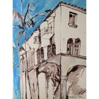 Modern Original Palm Beach Painting