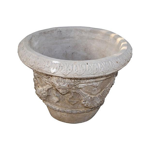 Image of French Garland Concrete Planter