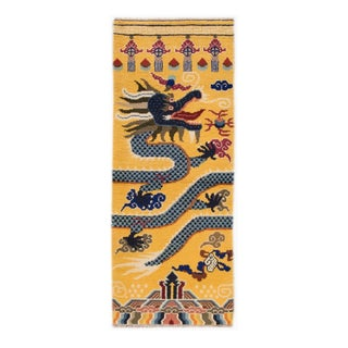 "Vintage Dragon Chinese Rug - 2'8"" X 6'10"""