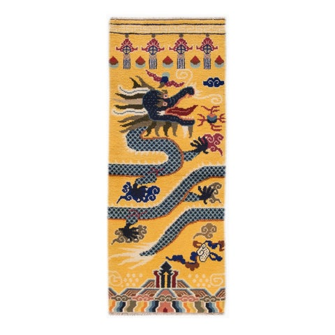 "Image of Vintage Dragon Chinese Rug - 2'8"" X 6'10"""
