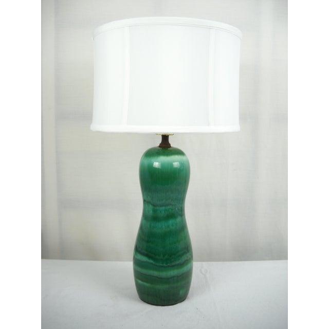 1960s Mid-Century Drip Glaze Lamp - Image 3 of 7