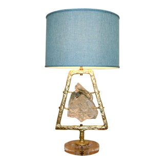 Glass Rock Lamp