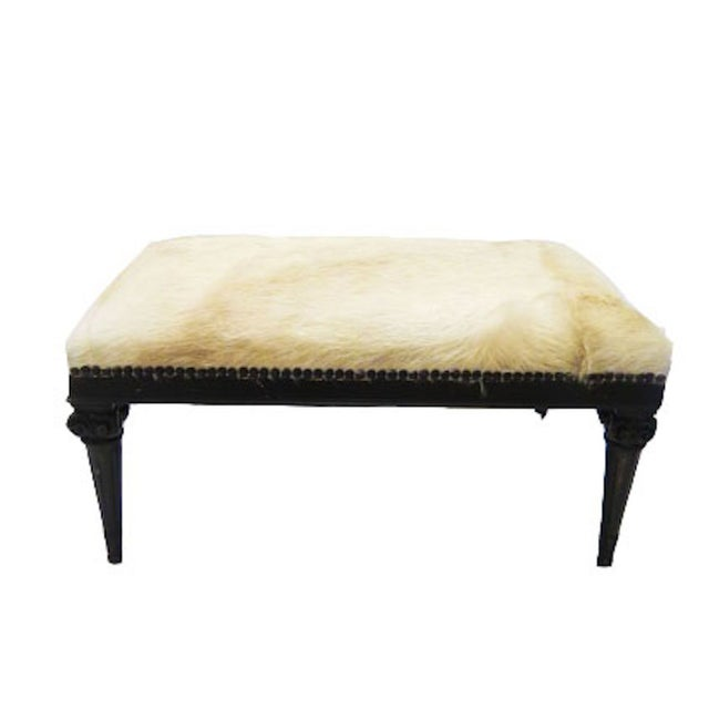 Cowhide Ottomans - A Pair - Image 1 of 2