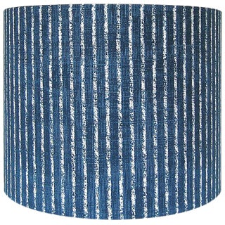 Drum Lamp Shade Magnolia Home Skyfall Navy Striped Custom