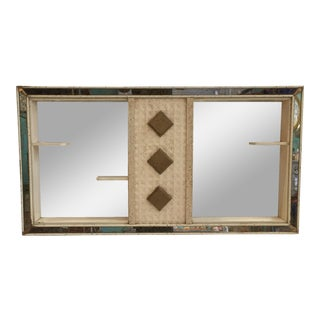 Vintage Shadow Box With Shelves & Mirror