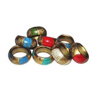 Vintage Florentine Napkin Rings - Set of 8