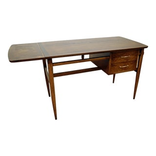 Mid-Century Danish Modern Lane Walnut Drop-Leaf Desk