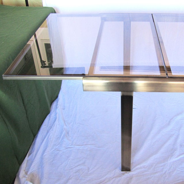 Antique Brass & Glass Extendable Dining Table - Image 5 of 5