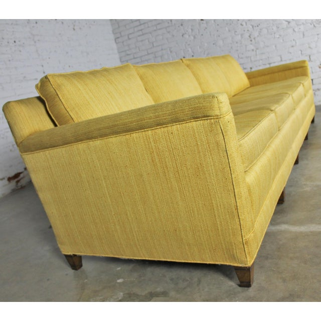 Extra Long Leather Sofa For Sale: Mid-Century Extra Long Lawson Golden Yellow Sofa