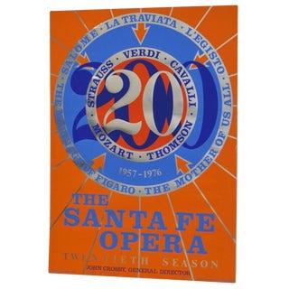1976 Robert Indiana Signed Santa Fe Opera Lithograph