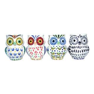 Gorky Gonzalez Ceramic Owl Mugs - Set of 4