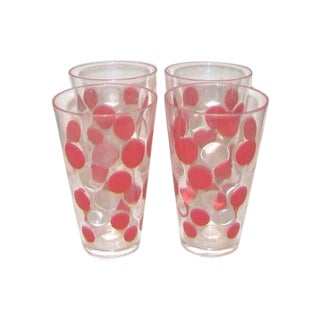 Red Polka Dot Acrylic Tumblers - Set of 12