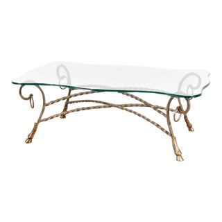 Glass Coffee Table in the Manner of Maison Jansen