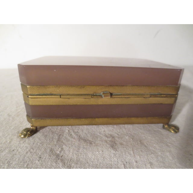 Image of Rare Purple Opaline Murano Vanity Box