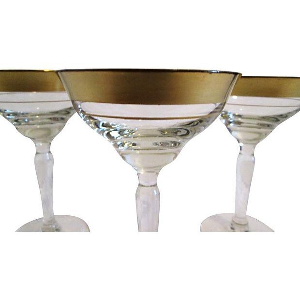 Gold Banded Cocktail Glasses - Set of 4 - Image 4 of 5