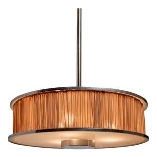 Large Italian Modernist Pendant Lamp, 1920s