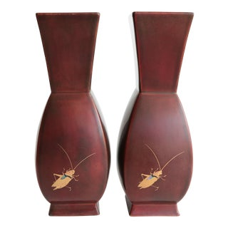 Japanese Oxblood Cricket Vases - A Pair