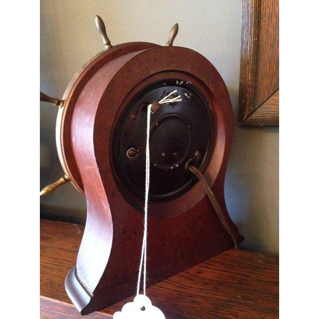 Vintage Seth Thomas Nautical Wheel Clock - Image 3 of 4