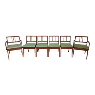Mid-Century Mahogany Dining Chairs - Set of 6