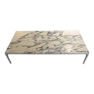 MDF Italia Matte White Marble Coffee Table