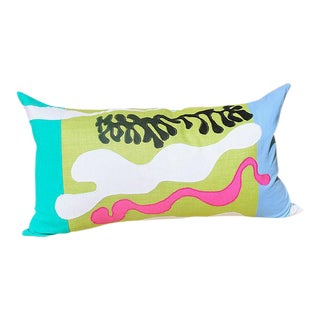 "Seaweed Applique Throw Pillow - 25"" x 14"""