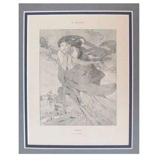 1899 Original Mucha Cocorico Illustration March