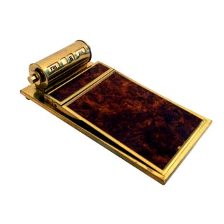 Park Sherman Brass Desk Calendar & Notepad Holder