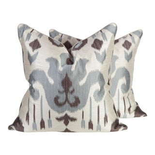 Slate Aladdin Ikat Pillows - a Pair
