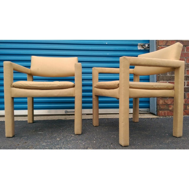 Milo Baughman & Thayer Coggin Parsons Arm Chairs - A Pair - Image 7 of 10