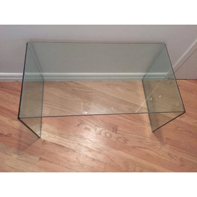 Image of Modern Glass Waterfall Coffee Table