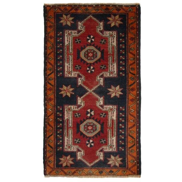 Geometric Medallions Yastik   1'8 x 3' Turkish Carpet - Image 1 of 2