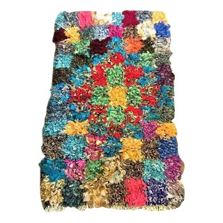 Vintage Boucherouite Small Multicolored Rug