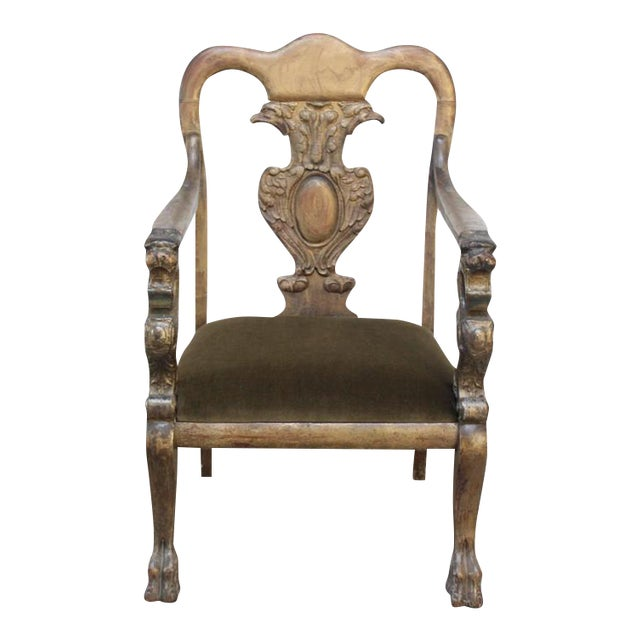 Majestic Odd Fellows Carved and Painted Armchair - Image 1 of 11