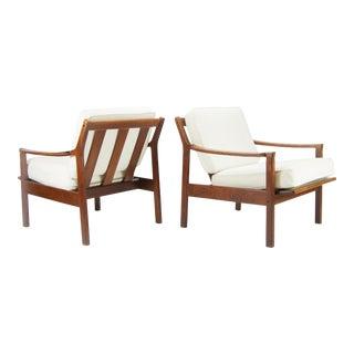 Danish Modern Teak Easy Chairs - a Pair