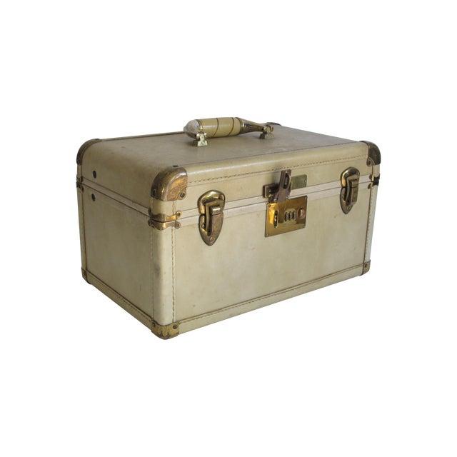 Cream Leather Train Case - Image 1 of 6