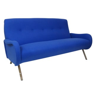 Marco Zanuso Modern Metal Leg Sofa