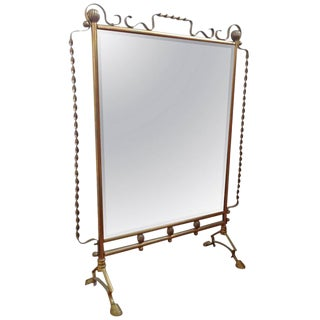 French Mirrored Fire Screen in the Style of Raymond Subes