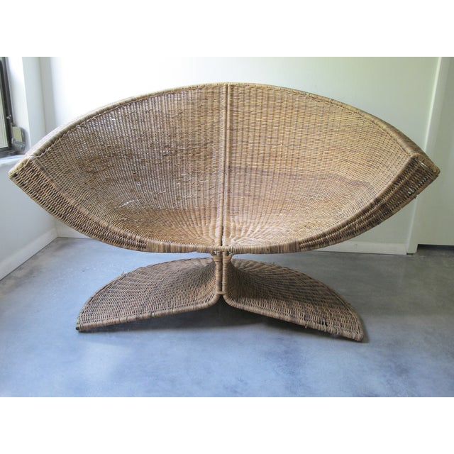 Miller Yee Fong Lotus Chair: 1960s Wicker Lounge - Image 2 of 11