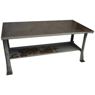 1950'a Industrial Steel Work Table