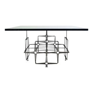 Trimark Mid-Century Modern Nail Brutalist Coffee Table