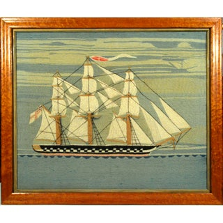 British Sailor's Woolwork or Woolie of a Royal Navy Liffey Class Frigate