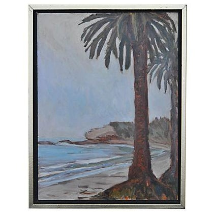 Image of Oil Painting on Board - Refugio Beach Study