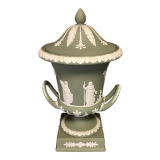 Wedgwood Green Jasperware Urn