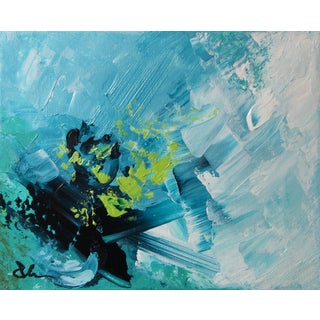 Original Abstract Peaceful Blue Painting