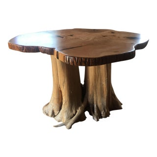 Live Edge Handcrafted Curly Maple Coffee Table