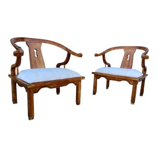 Asian Style Lounge Chairs - A Pair