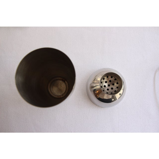Stainless Cocktail Shaker With Rubber Ball Stopper - Image 4 of 5