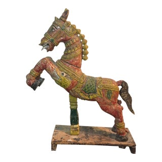 Indian Painted Wood Horse