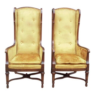 High Back Throne Chairs-A Pair