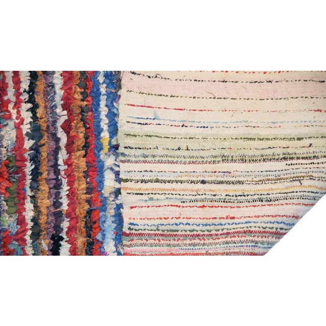 """Vintage Boucherouite Carpet - 7' X 4'1"""" - Image 3 of 3"""